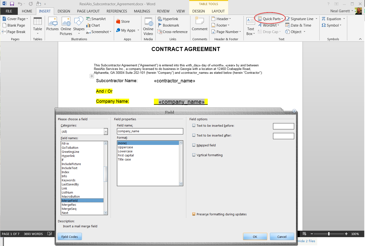 Creating a page of the content type mentioned in livedocx [#2461983 ...
