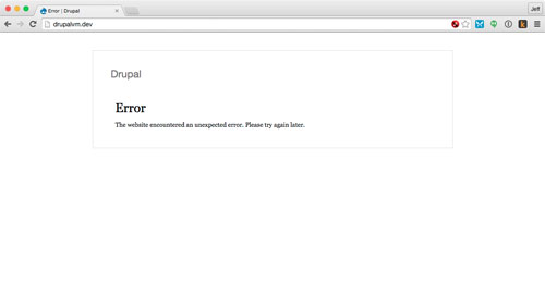 Drupal - error on first page load