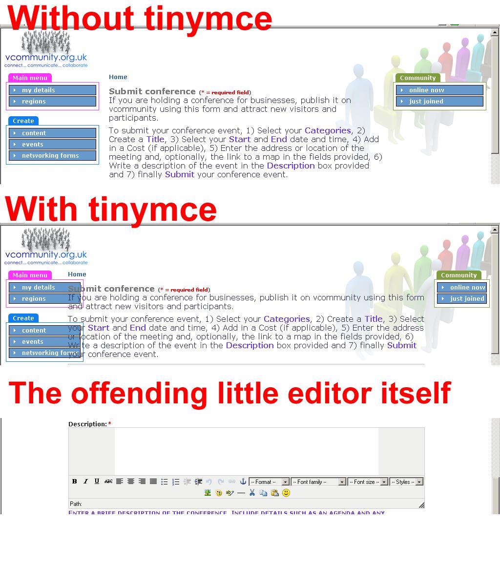 Tinymce spills over in IE --- SOLUTION !!! [#49650] | Drupal org