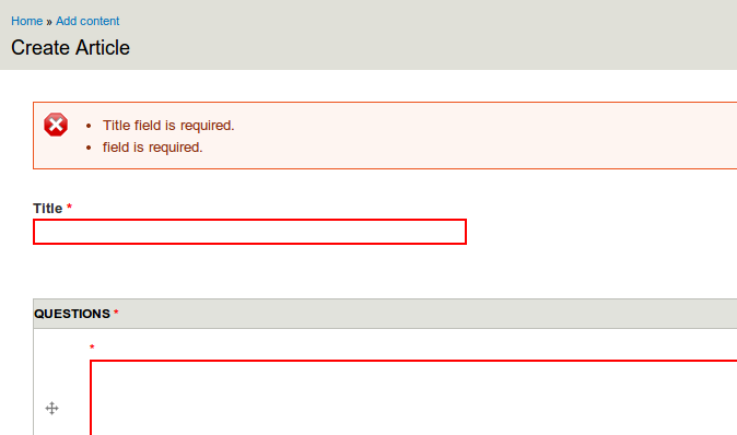 Validating a text field