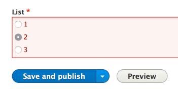 No error highlighting on form checkbox or radio input types