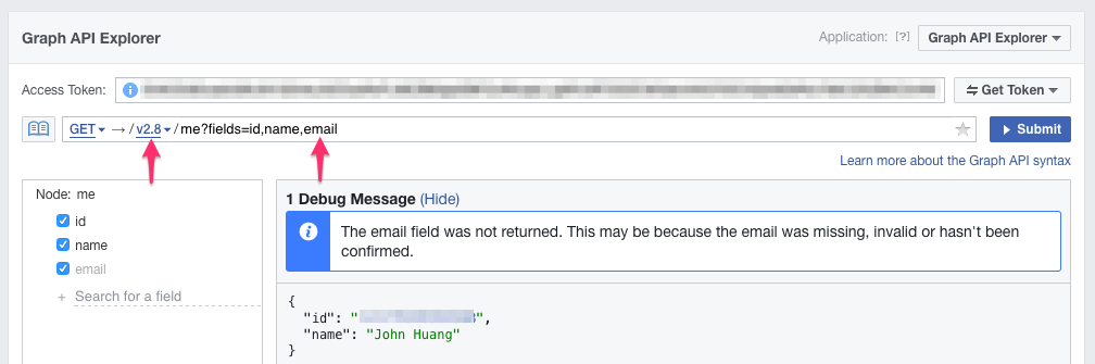 hide comment facebook api