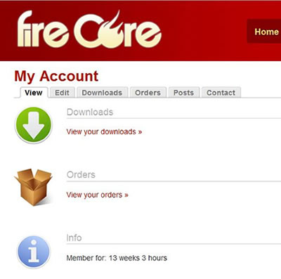 FireCore User Account