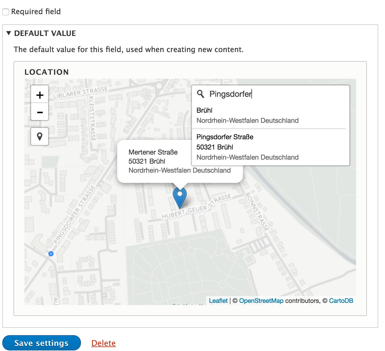Add a Leaflet map formatter and widget [#2786447] | Drupal org