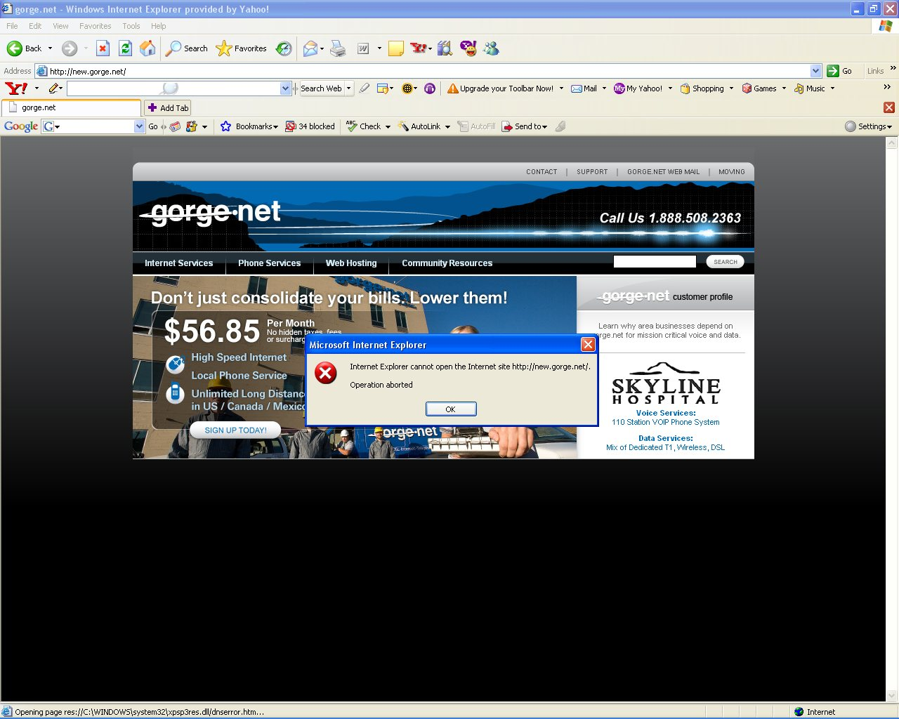 Getting this error with IE. Internet Explorer cannot open the ...