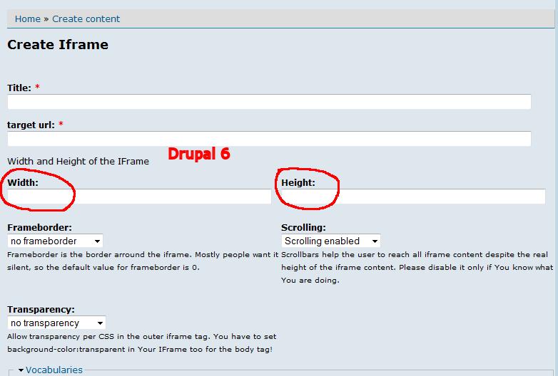 D7 iFrame adjustable dimensions [#2321999] | Drupal org