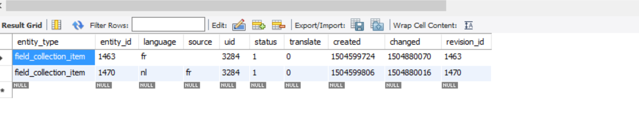 Field Collection Translation Compatibility Issue With