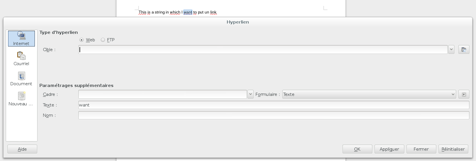 Allow modules to alter EditorLinkDialog to specify link text