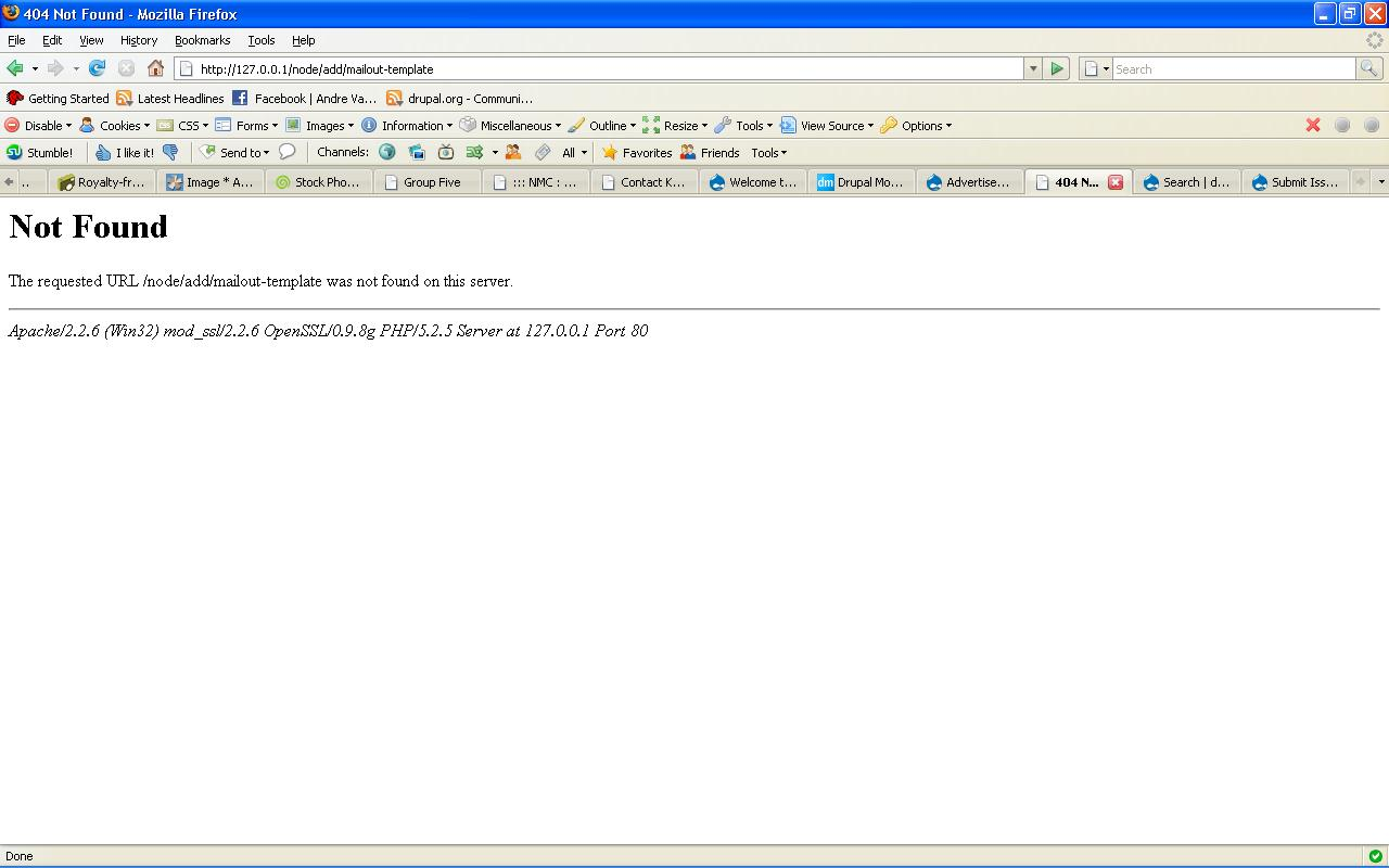 Error creating new template 276750 drupal mailout error pronofoot35fo Gallery