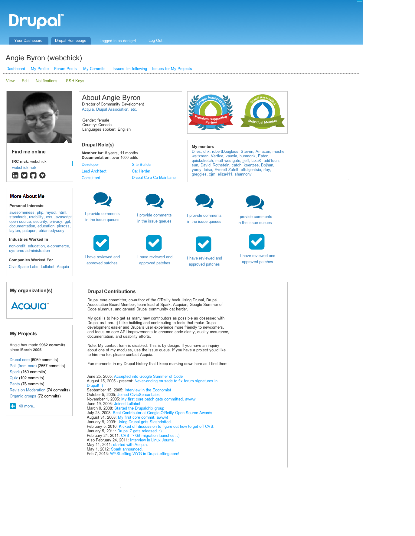drupal user profile layout