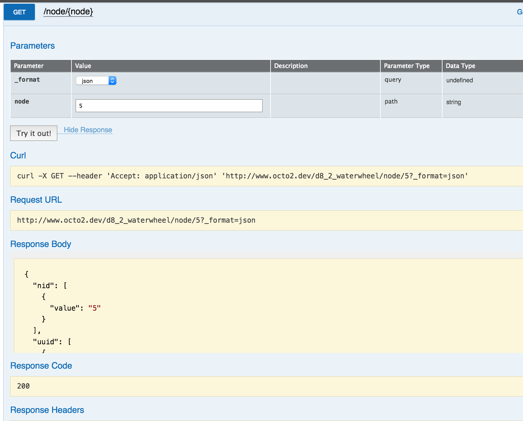 Ensure Drupal's web services are self-documenting: Swagger