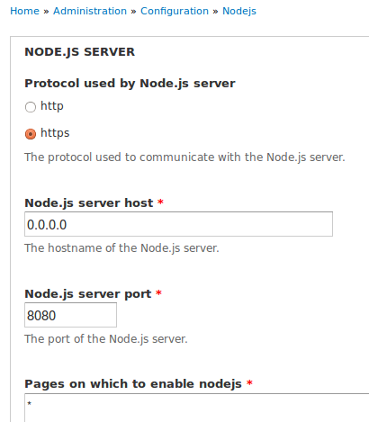 Messages are processed by nodejs, but no effects on the site