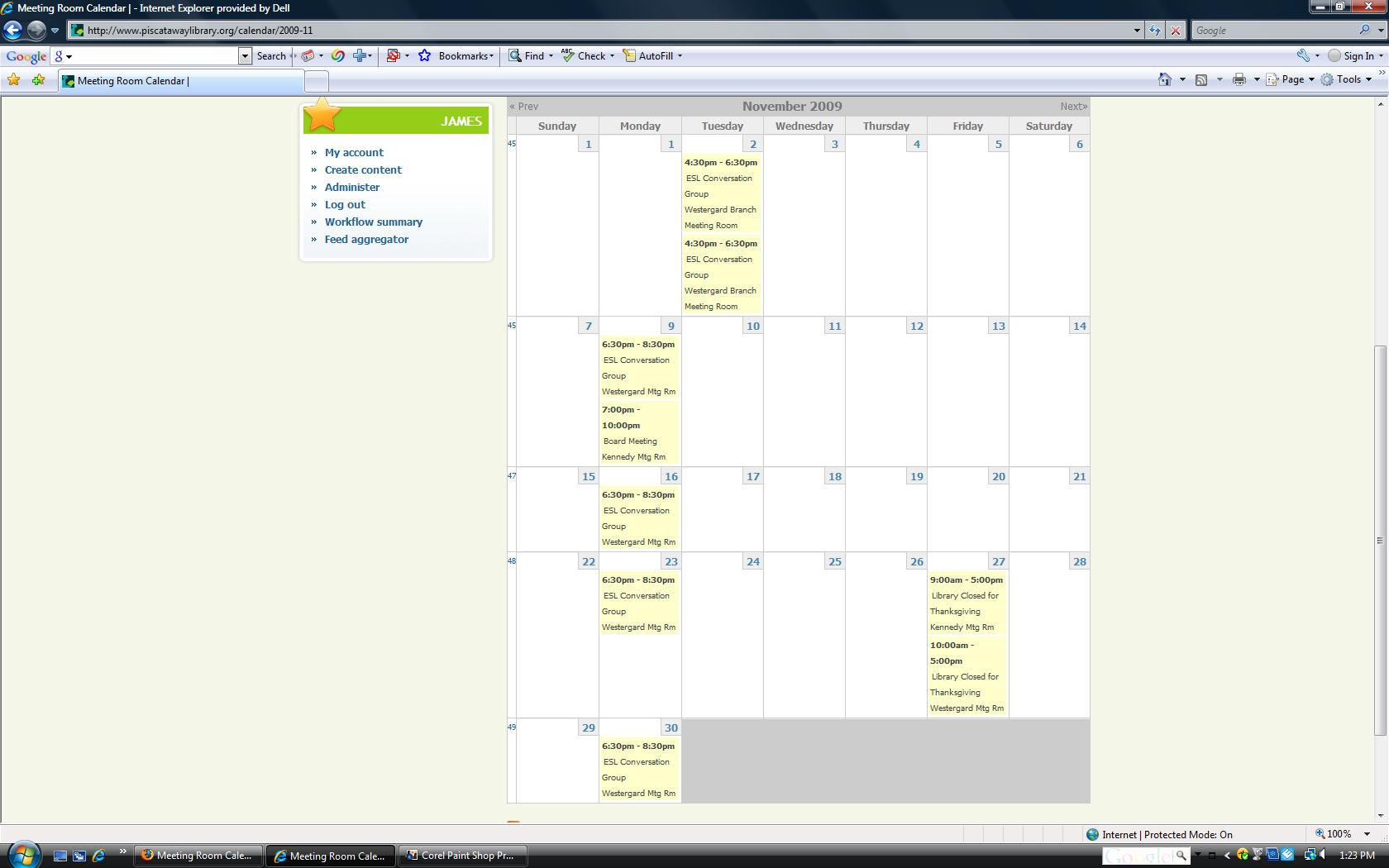 month view of november 2009 calendar displays incorrect days 400082 drupal org