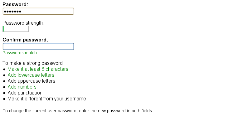Improve password checker in the Stark theme  [#370835