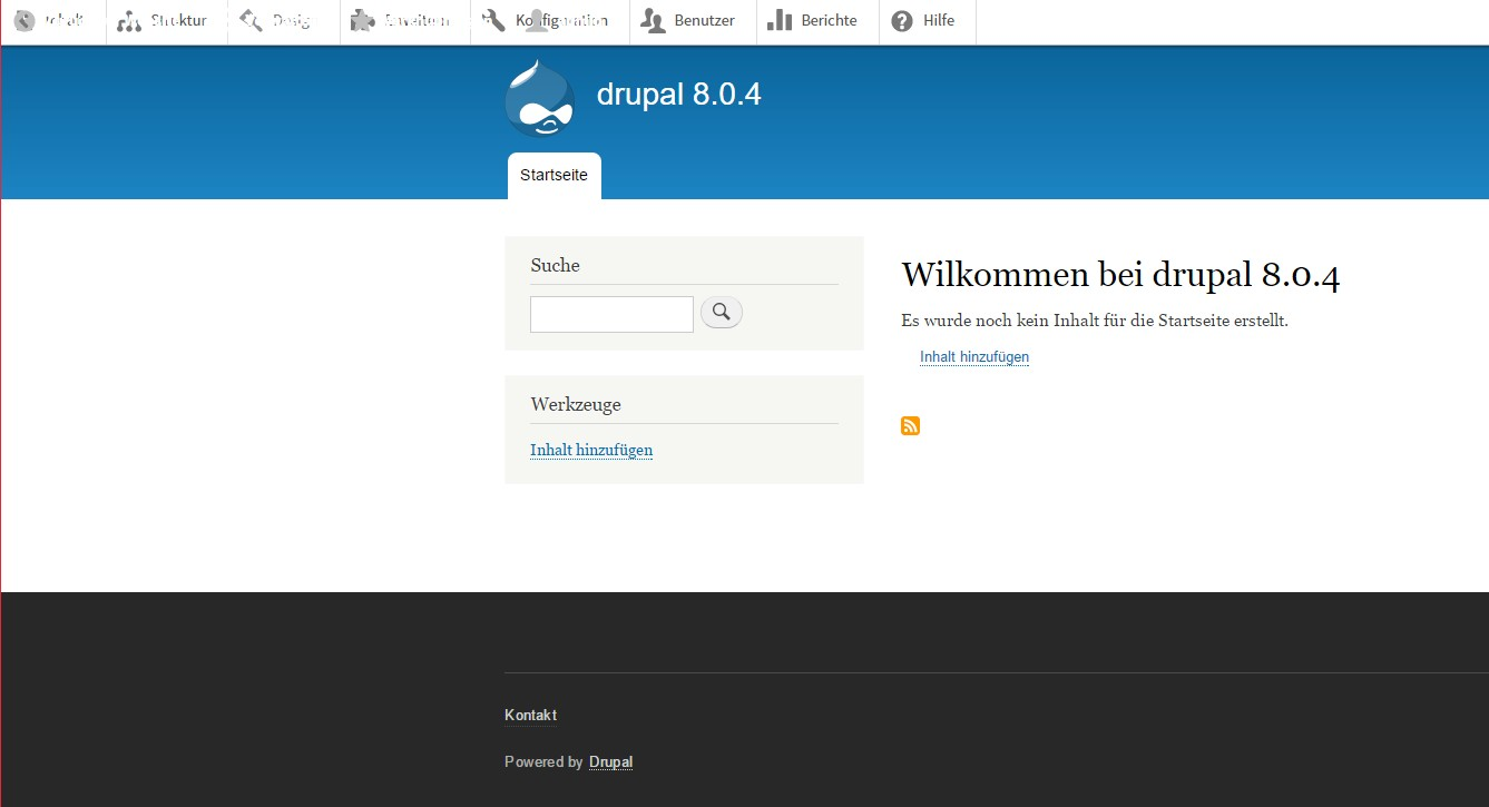 Patch 61 applied to clean Drupal 8.0.4