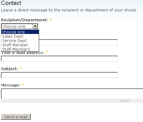 personal contact form