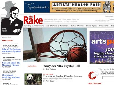 The Rake Magazine's home page