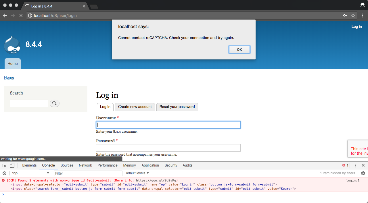 Integrate Invisible reCAPTCHA option from Google [#2852269] | Drupal org