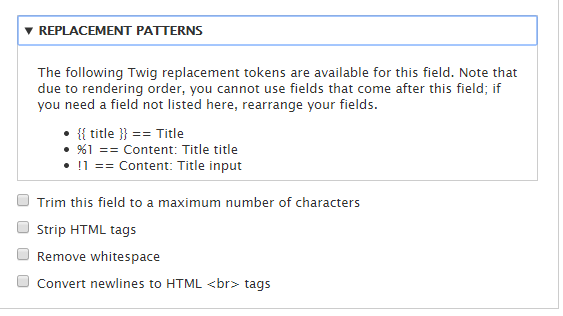 Allow Twig in Views token replacement [#2342287] | Drupal org