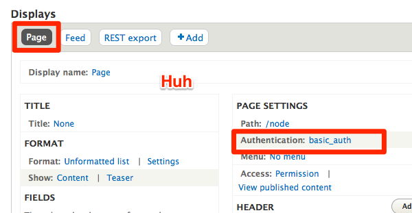 Add authentication support to REST views [#2228141] | Drupal org