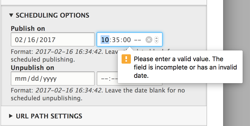Date field hints do not match configured date format in all browsers