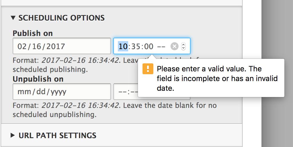 scheduler format