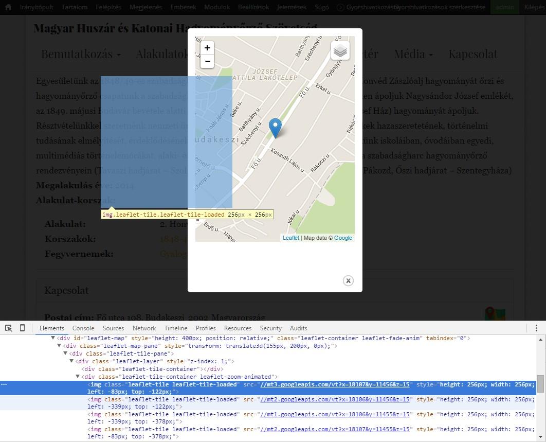 Map in modal: missing tiles [#2681641]   Drupal org