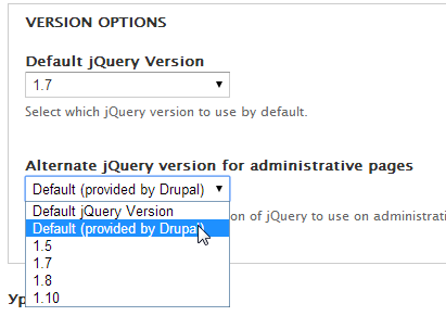 Rules UI does not work with JQuery 1.7+ [#1810656] | Drupal.org