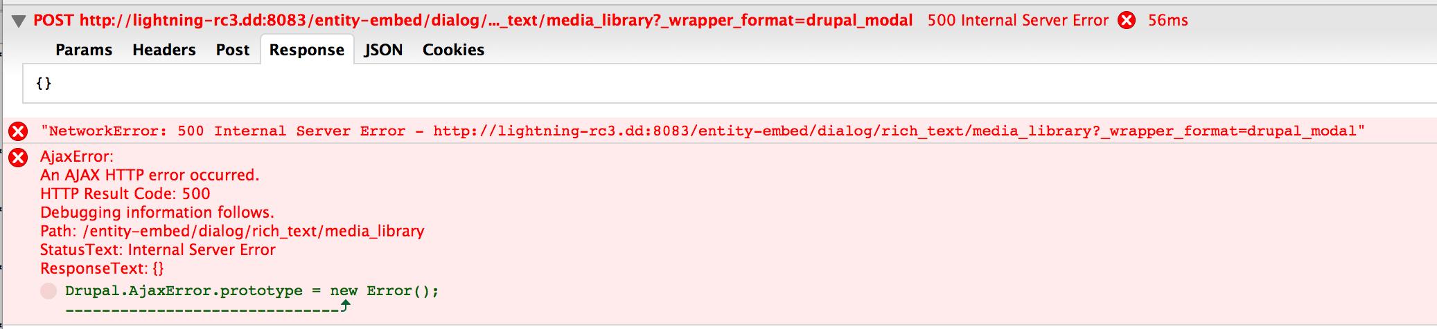 500 error when clicking media library button [#2717403