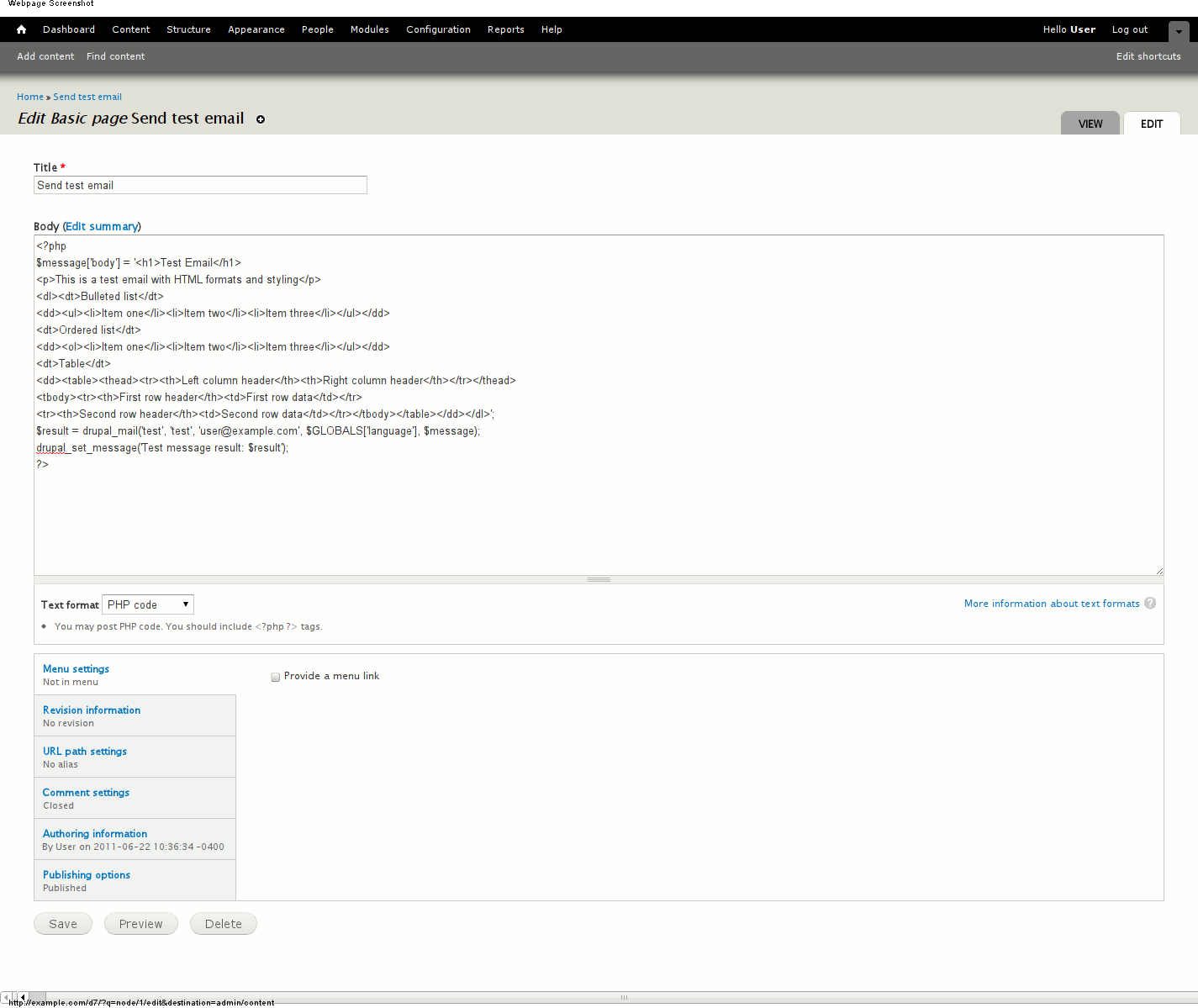 HTML E-Mails are being sent out as plaintext  [#1193744