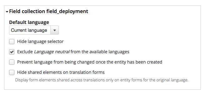 Field Collection: Field translation (entity_translation