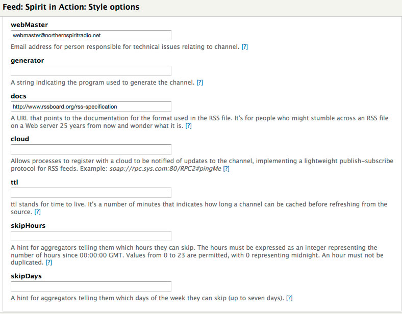Namespace missing in generated XML feed and RSS feed tested in