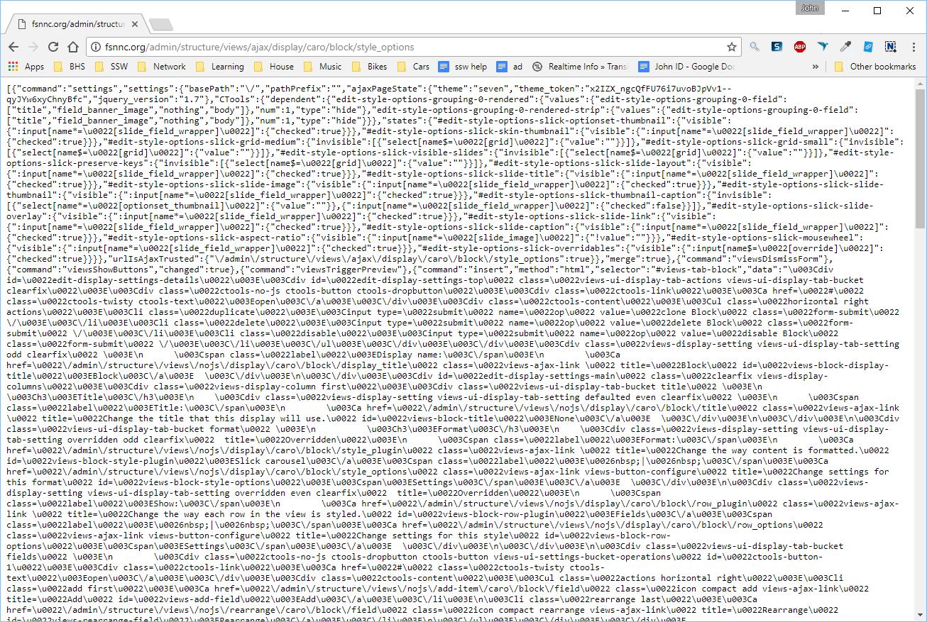 Slick block saves into a big ajax mess  [#2884952] | Drupal org