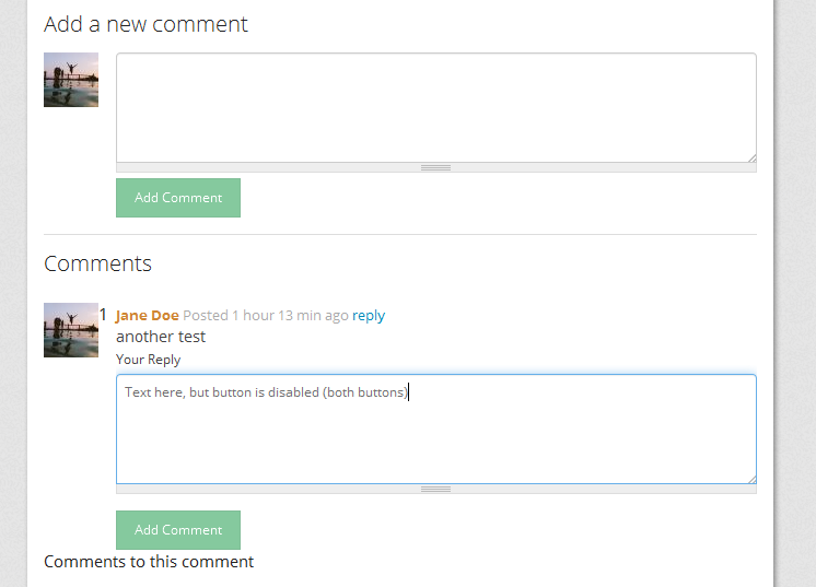 comment submit buttons disabled in bootstrap [#2359063] | Drupal.org