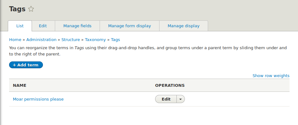 Add a dedicated permission to access the term overview page