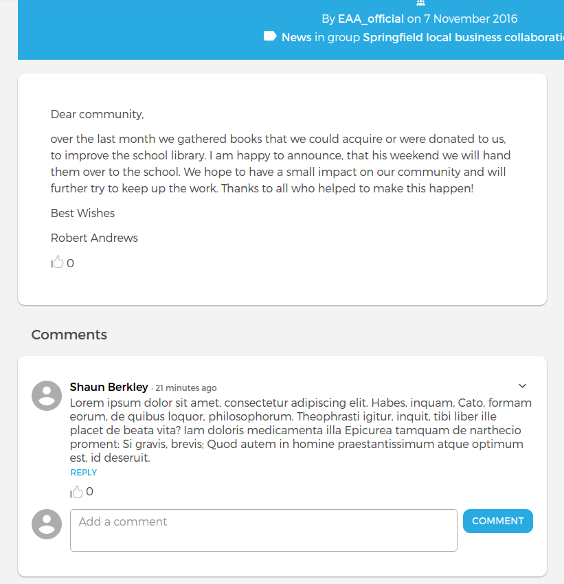 Like feature for Open Social Distribution [#2816429] | Drupal org