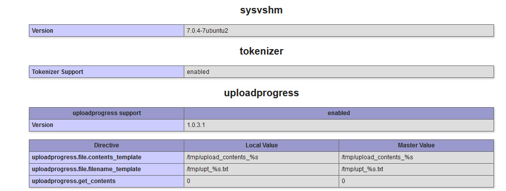 Upload progress PHP 7, documentation and recommendation on