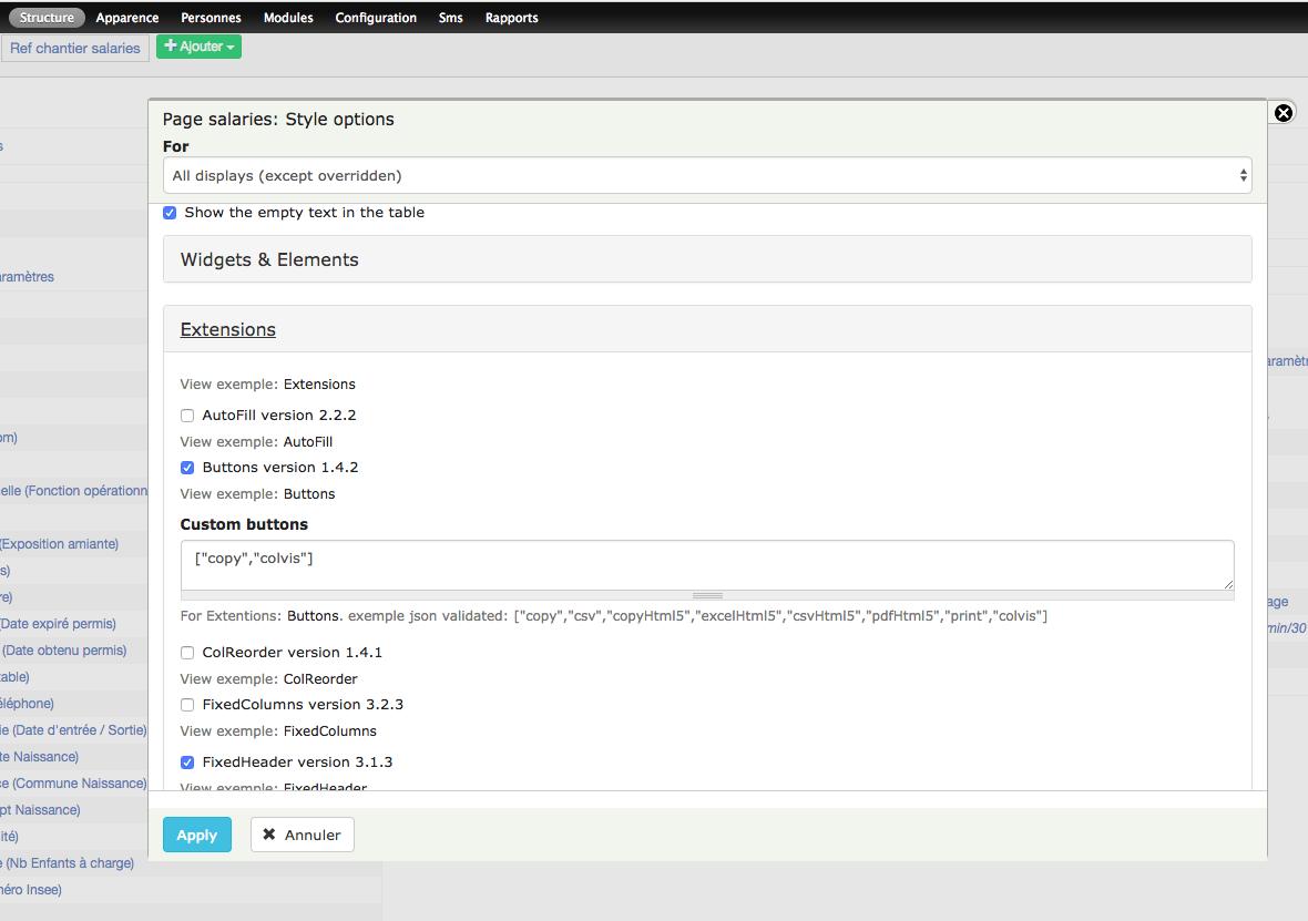 Support dataTables js version 1 10 16 [#2919790] | Drupal org