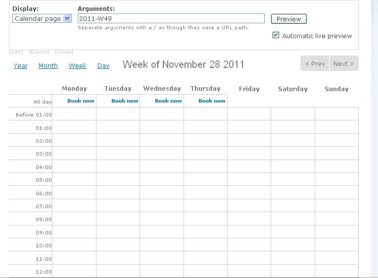 Calendar Views Support The Date Argument Date Fields Must Be Added