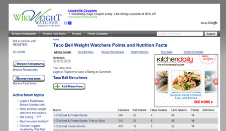 WikiWeightWatcher.com Upgrade and Redesign