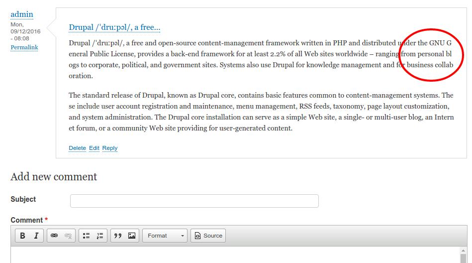 CSS word-break property [#2798459] | Drupal org