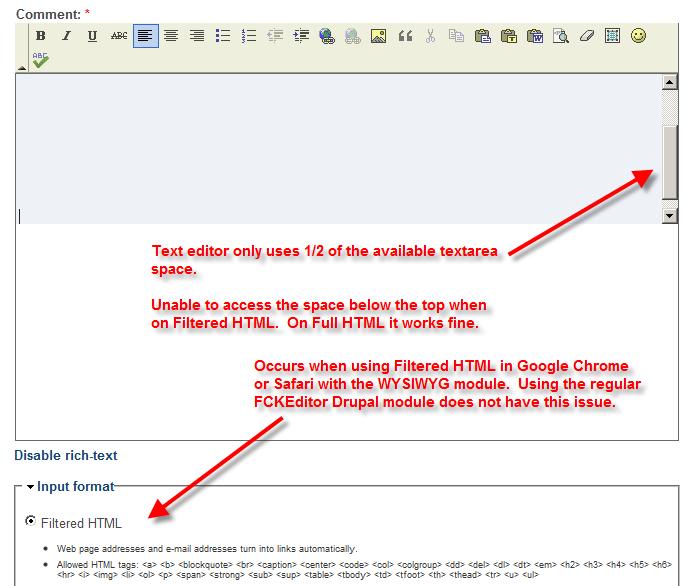 FCKeditor: Textarea cut in half on Google Chrome or Safari