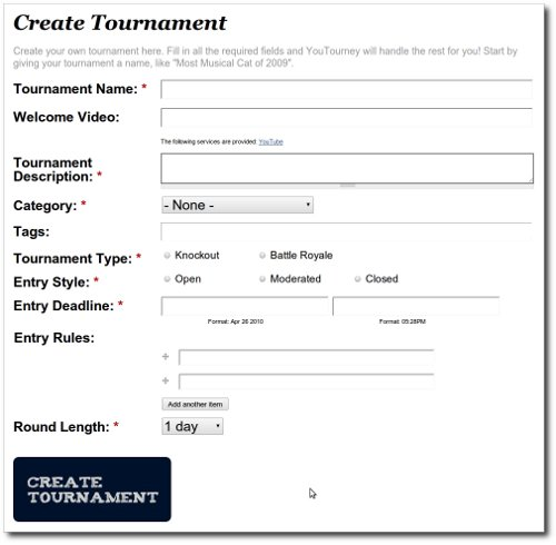 Youtourney video tournaments case study drupal youtourney tournament form sciox Gallery