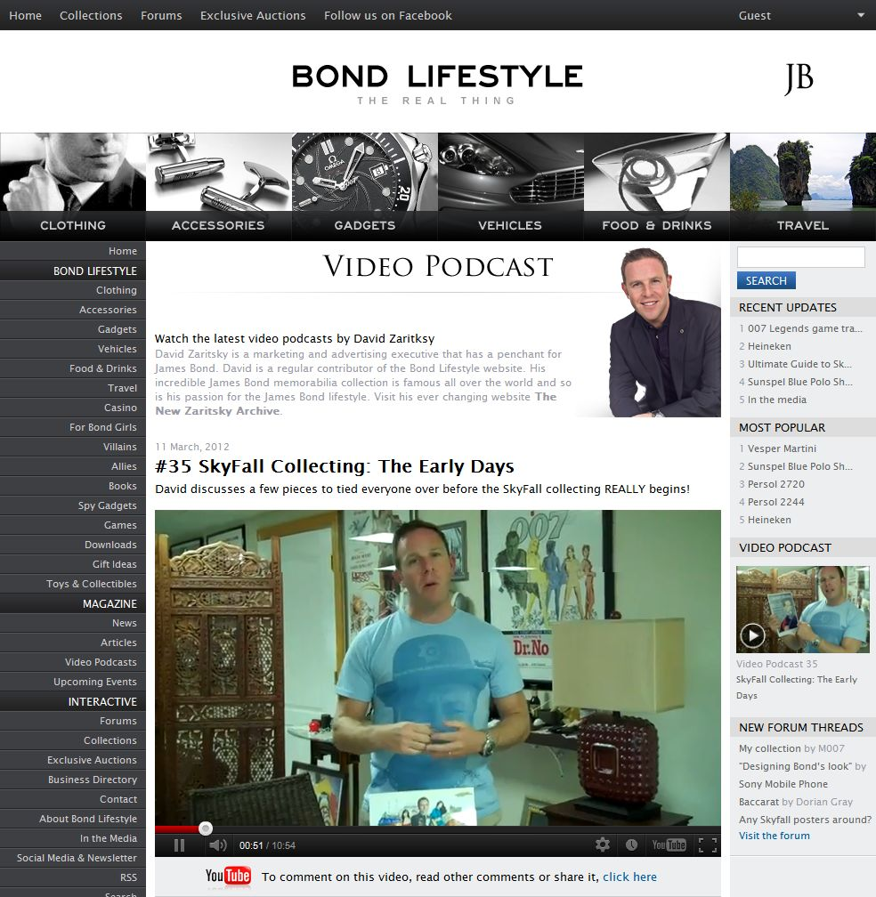 Video section for Bond Lifestyle