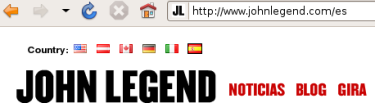 John Legend's site from Spain