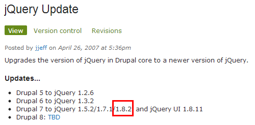 jQuery 1.8 with jQuery Update