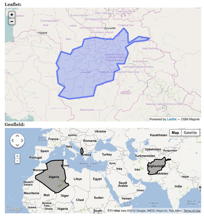 Only first polygons in multipolygon KML or GeoJSON are rendered on