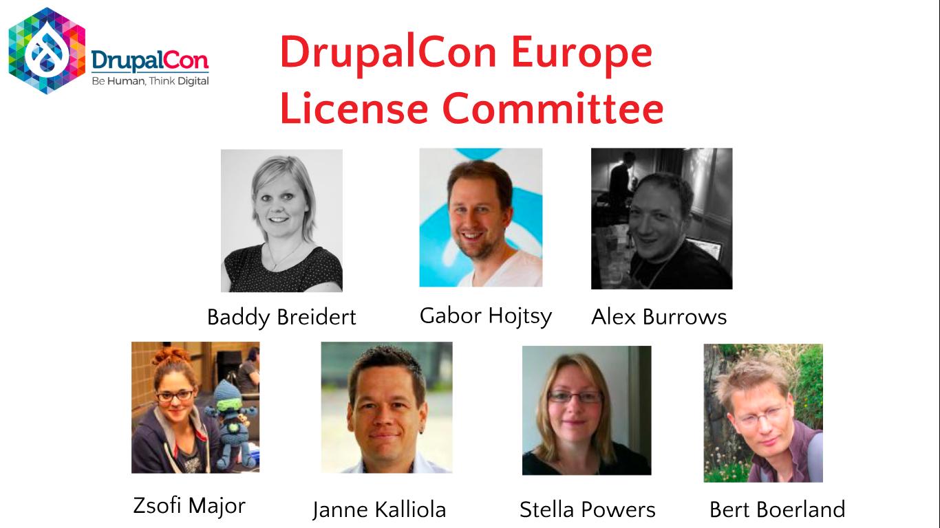 Planet Drupal Elex Idea Blog Electronic Watchdog Drupalcon Europe License Committee Members Baddy Breidert Gabor Hojtsy Alex Burrows Zsofi Major