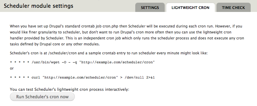 Lightweight Cron help page could use some improvements