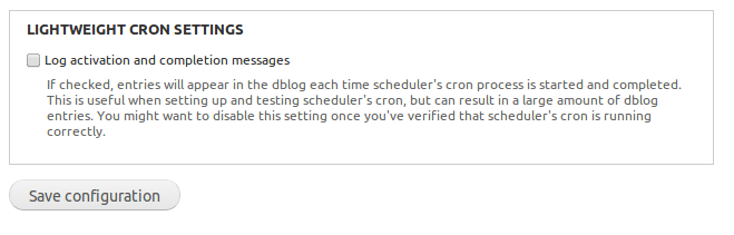 lightweight cron checkbox and help text as displayed on the lightweight cron page